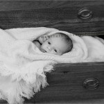 Austin infant in a drawer photograph