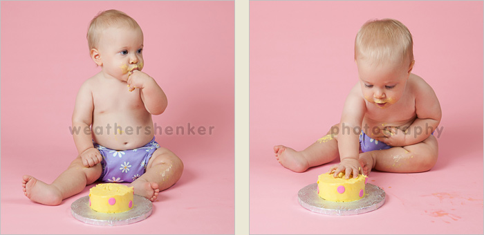 Austin cake smash first birthday photographer