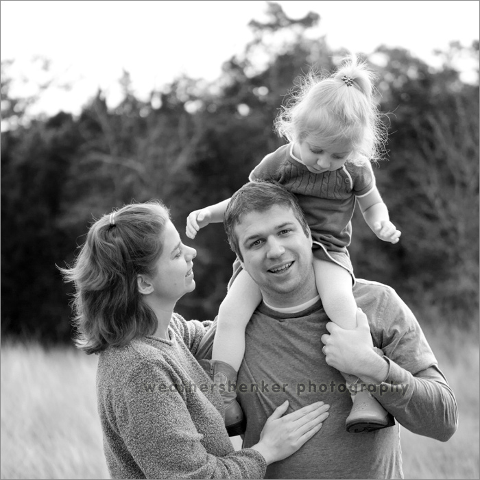 Photograph of family in an Austin field
