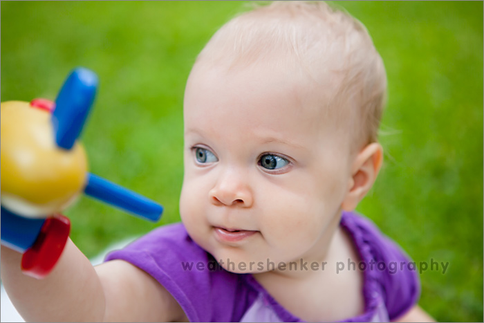 Austin baby with airplane toy photograph